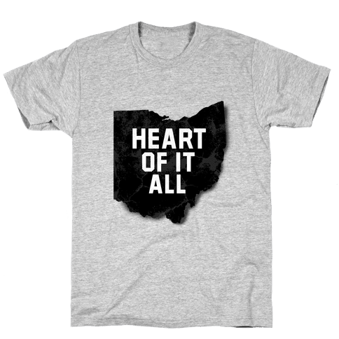 Ohio-Heart of it all Mens T-Shirt