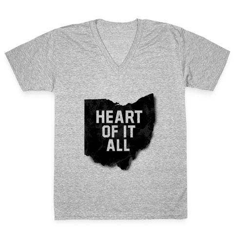 Ohio-Heart of it all V-Neck Tee Shirt