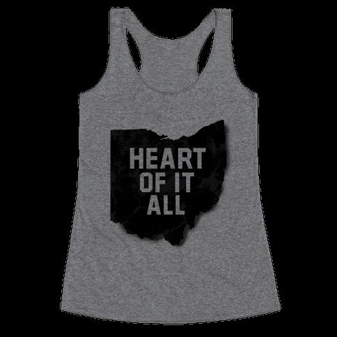 Ohio-Heart of it all Racerback Tank Top