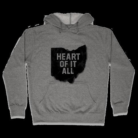 Ohio-Heart of it all Hooded Sweatshirt