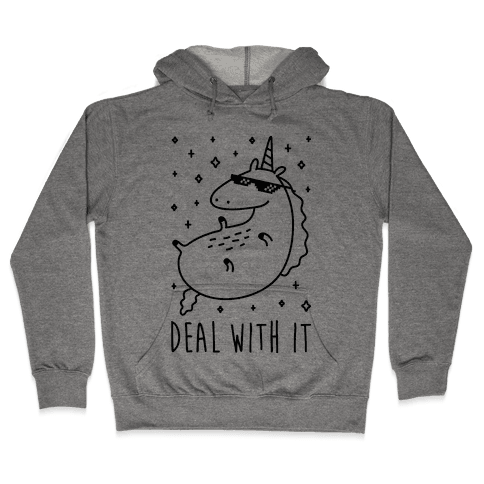 Deal With It Unicorn Hooded Sweatshirt