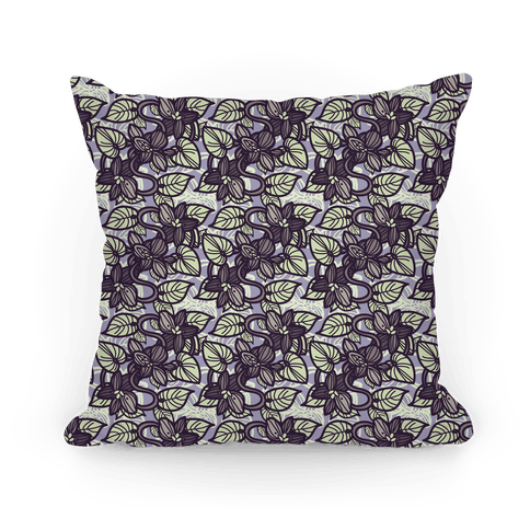 Muted Violet Pattern Pillow (Purple)