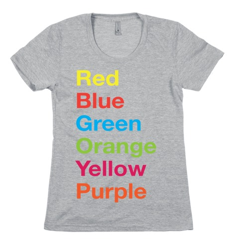 The Colors Womens T-Shirt