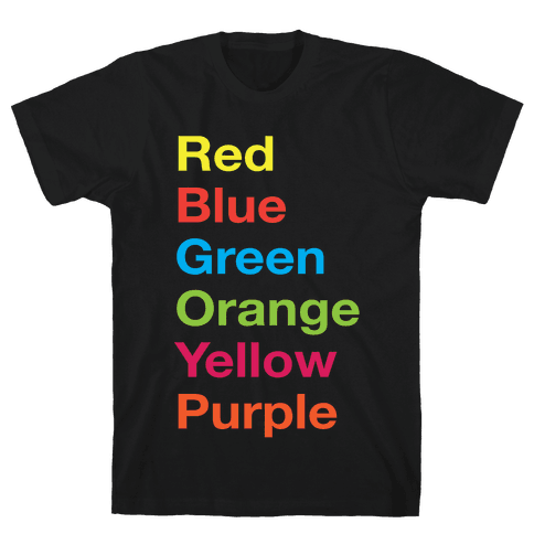 The Colors Mens T-Shirt