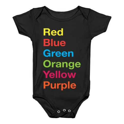 The Colors Baby Onesy