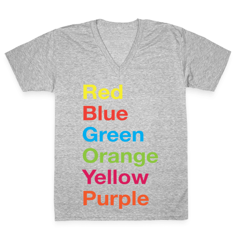 The Colors V-Neck Tee Shirt