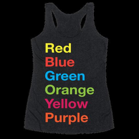 The Colors Racerback Tank Top