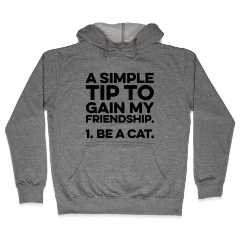 A Simple Tip to Gain My Friendship Hooded Sweatshirt