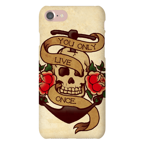 YOLO Skull Phone Case