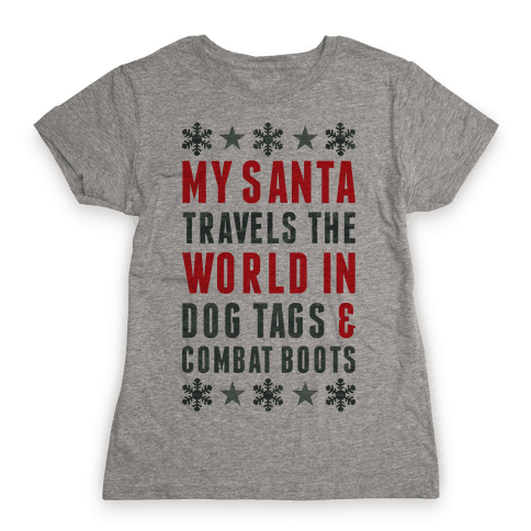 My Military Santa Womens T-Shirt