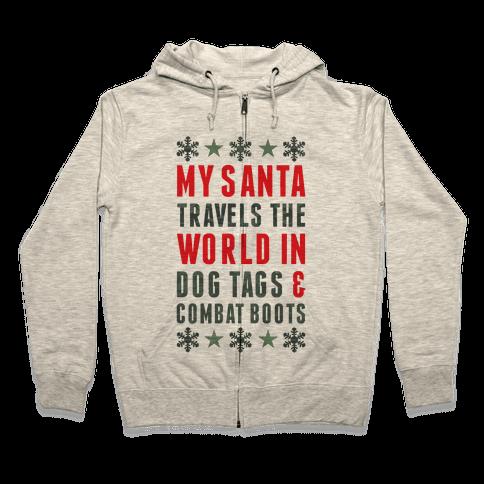 My Military Santa Zip Hoodie