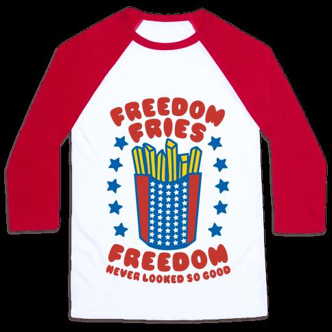 Freedom Fries Baseball Tee