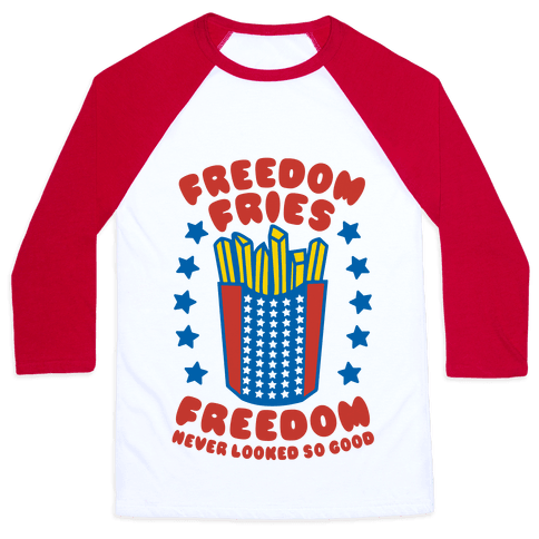 Freedom Fries Baseball Tee