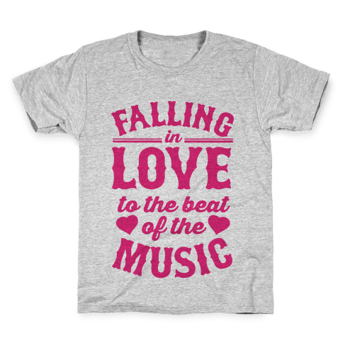 Falling In Love to the Beat of the Music Kids T-Shirt