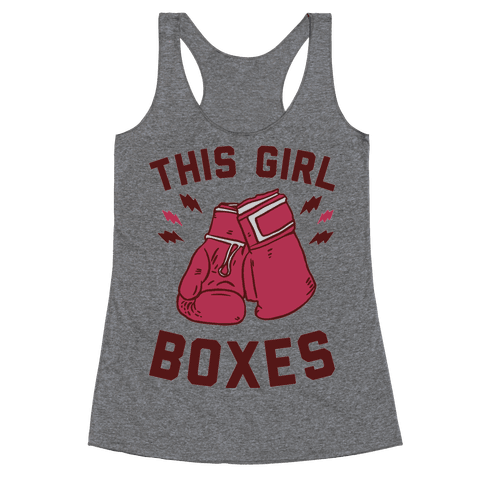 This Girl Boxes Racerback Tank Top