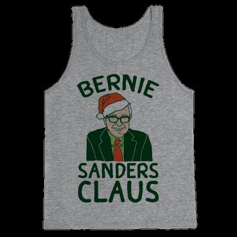 Bernie Sanders Claus Tank Top