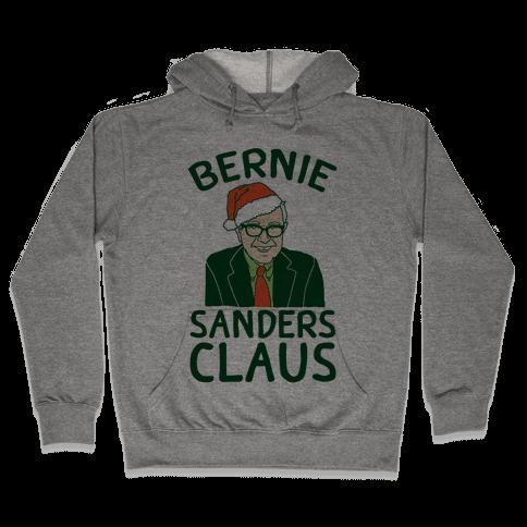 Bernie Sanders Claus Hooded Sweatshirt