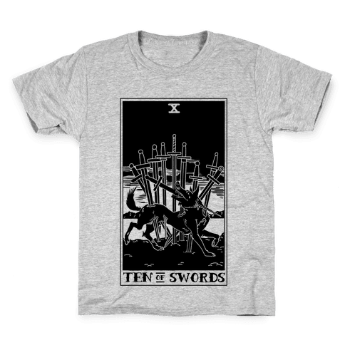 The Ten Of Swords Kids T-Shirt