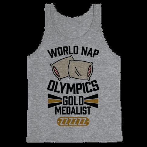 World Nap Olympics Gold Medalist Tank Top