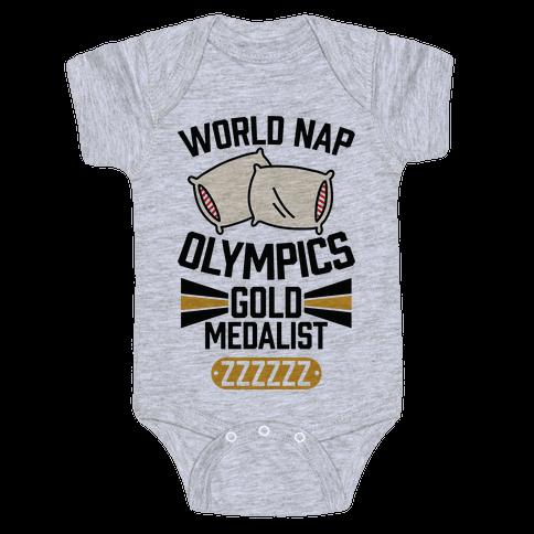 World Nap Olympics Gold Medalist Baby Onesy