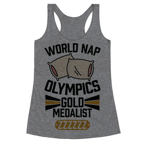 World Nap Olympics Gold Medalist Racerback Tank Top