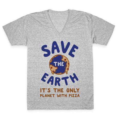 Save The Earth V-Neck Tee Shirt