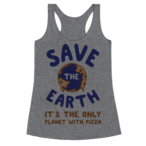 Save The Earth Racerback Tank Top