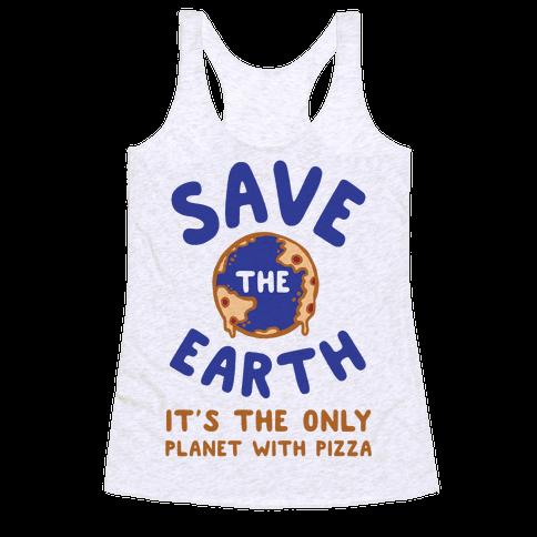 Save The Earth Racerback Tank Top