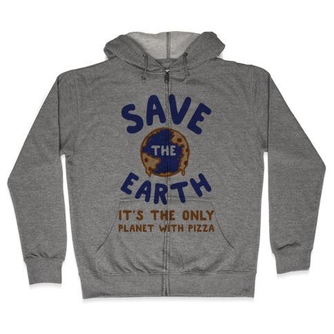 Save The Earth Zip Hoodie