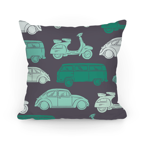 The 1960's Hippie Traveller Pillow