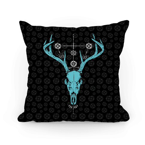 Mystic Skull Pillow