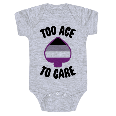 Too Ace To Care Baby Onesy