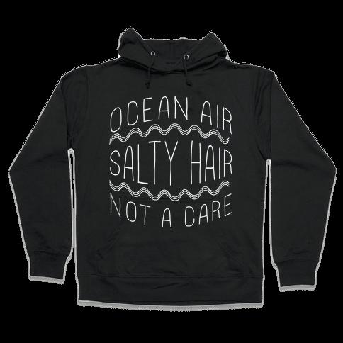 Ocean Air (black) Hooded Sweatshirt