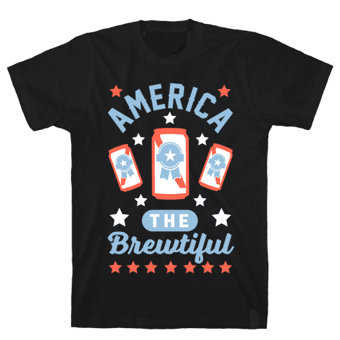 America The Brewtiful Mens T-Shirt