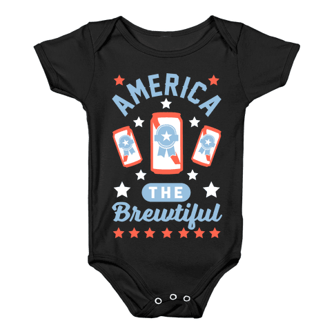 America The Brewtiful Baby Onesy