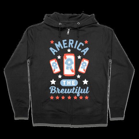 America The Brewtiful Zip Hoodie