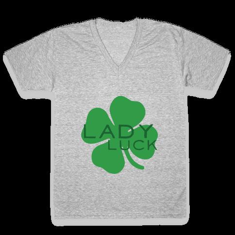 Lady Luck V-Neck Tee Shirt