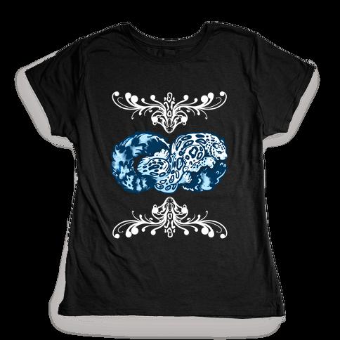 Infinity Snow Leopard Womens T-Shirt