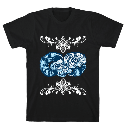 Infinity Snow Leopard Mens T-Shirt