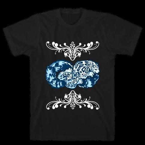 Infinity Snow Leopard Mens T-Shirt
