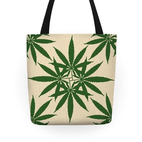 Weed Pattern Tote