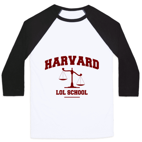 Harvard LOL School Baseball Tee