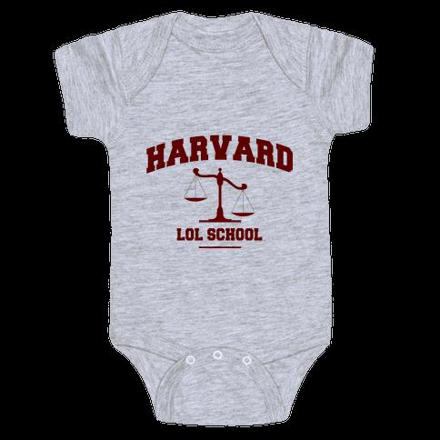 Harvard LOL School Baby Onesy