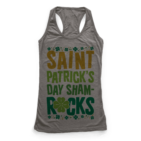 St. Patrick's Day Sham-ROCKS Racerback Tank Top