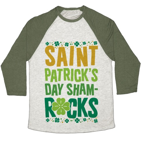 St. Patrick's Day Sham-ROCKS Baseball Tee