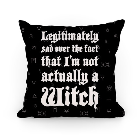 I'm Not A Witch Pillow
