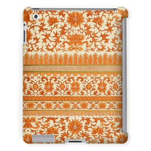 Ornate Pattern Tablet Case (Orange)