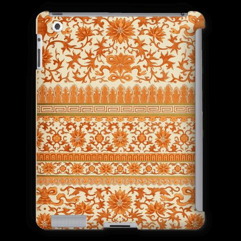 Ornate Pattern Tablet Case (Orange)
