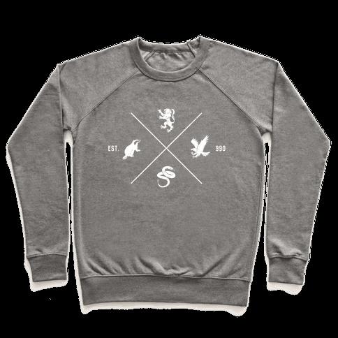 Hogwarts Minimal Crest (Distressed) Pullover