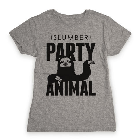 Slumber Party Animal Womens T-Shirt